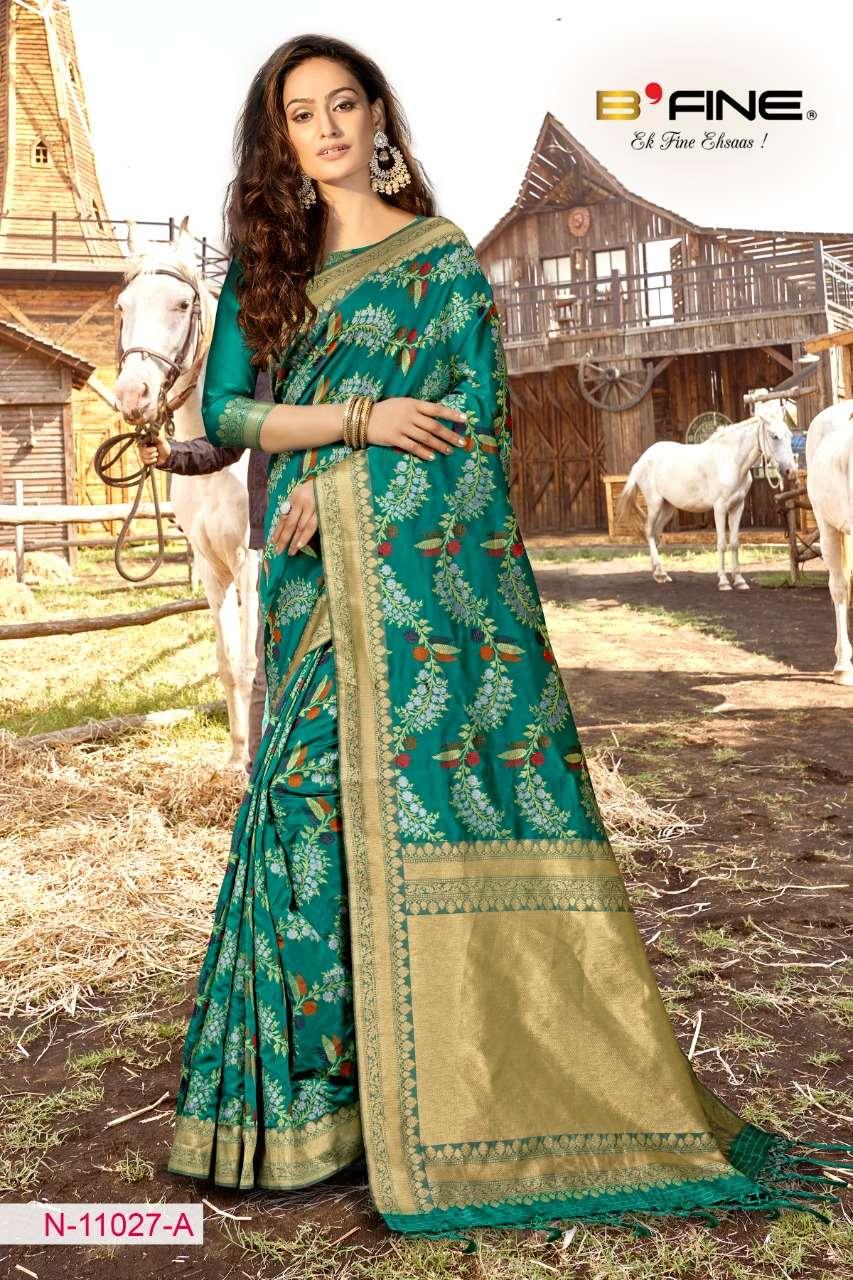 B FINE ART OF ZARI  soft silk party wear saree collection 08