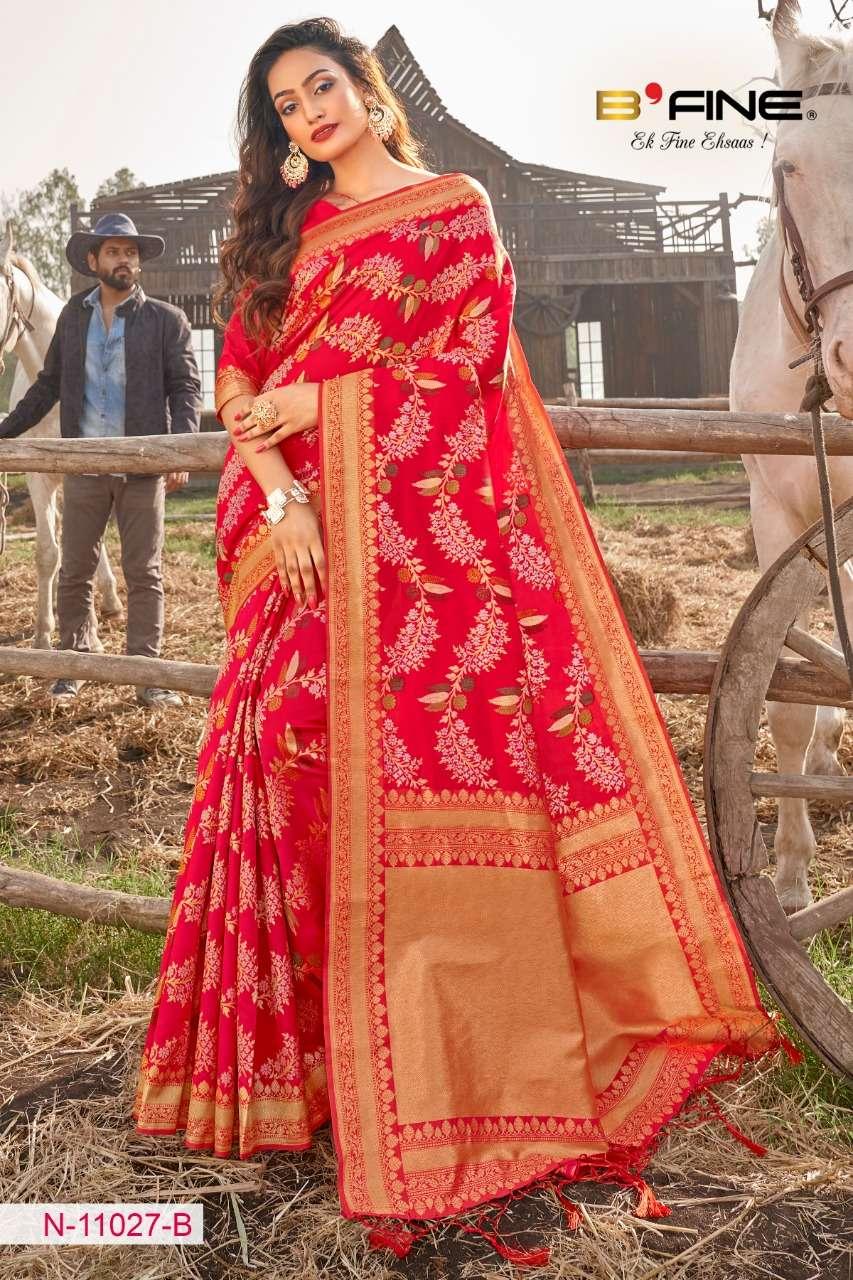 B FINE ART OF ZARI  soft silk party wear saree collection 09