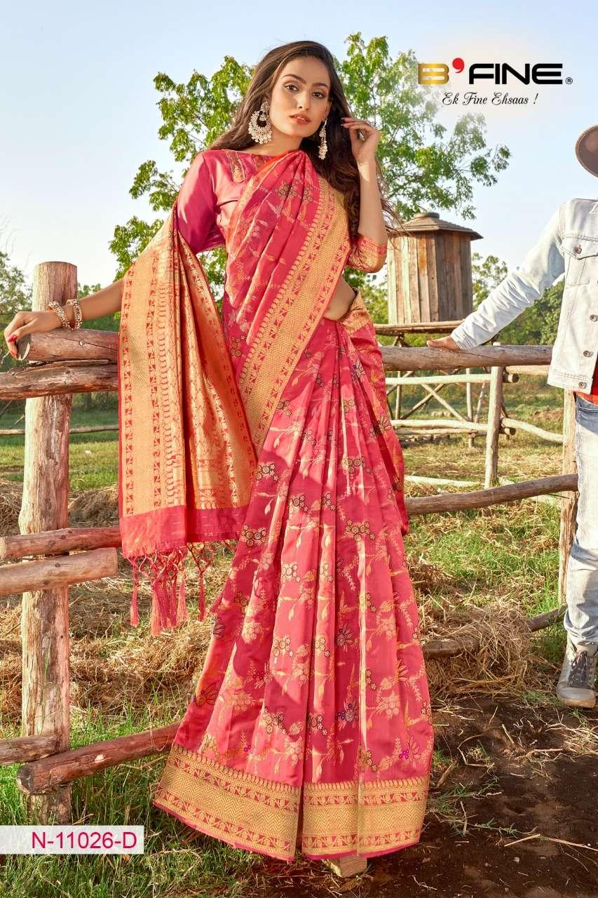B FINE ART OF ZARI  soft silk party wear saree collection 10