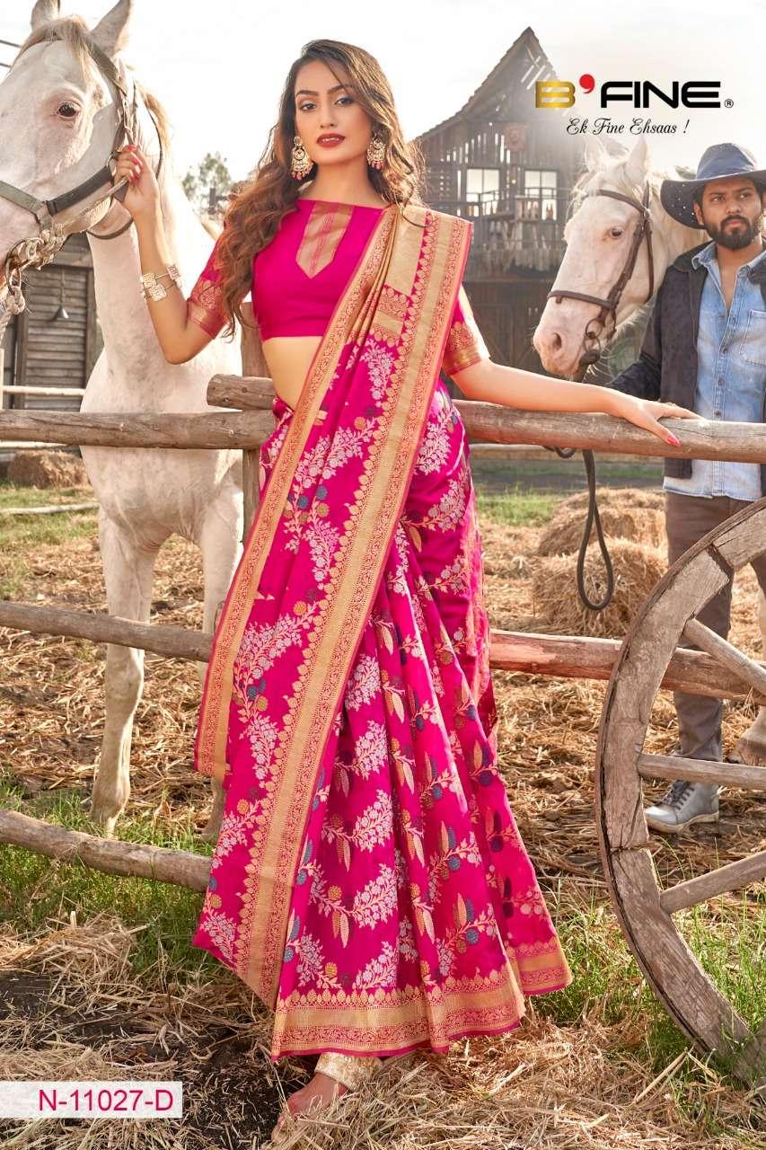 B FINE ART OF ZARI  soft silk party wear saree collection 11
