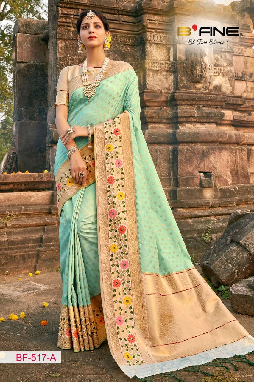 B Fine Nakkashi Fancy Heavy Sarees Collection At Wholesale Rate
