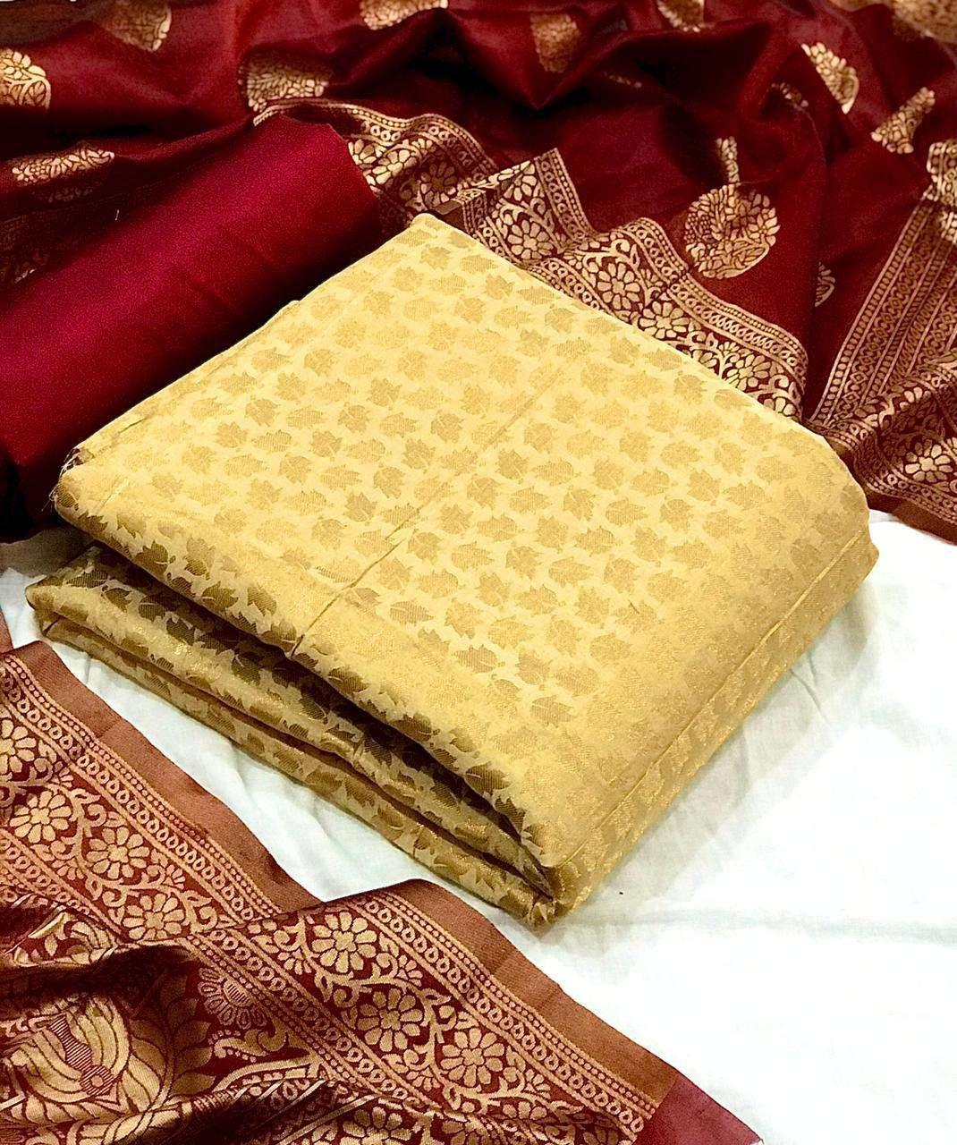 Banarasi Silk ikkat Suits Dress Material Collection
