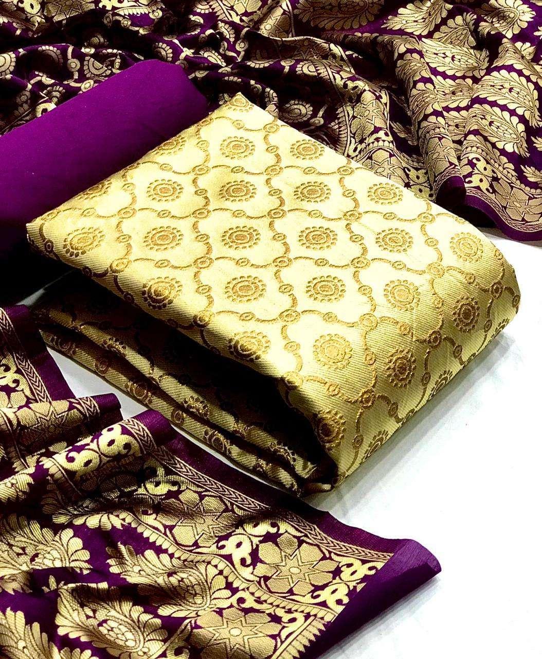 Banarasi Silk Mataka DRESS MATERIAL COLLECTION 01