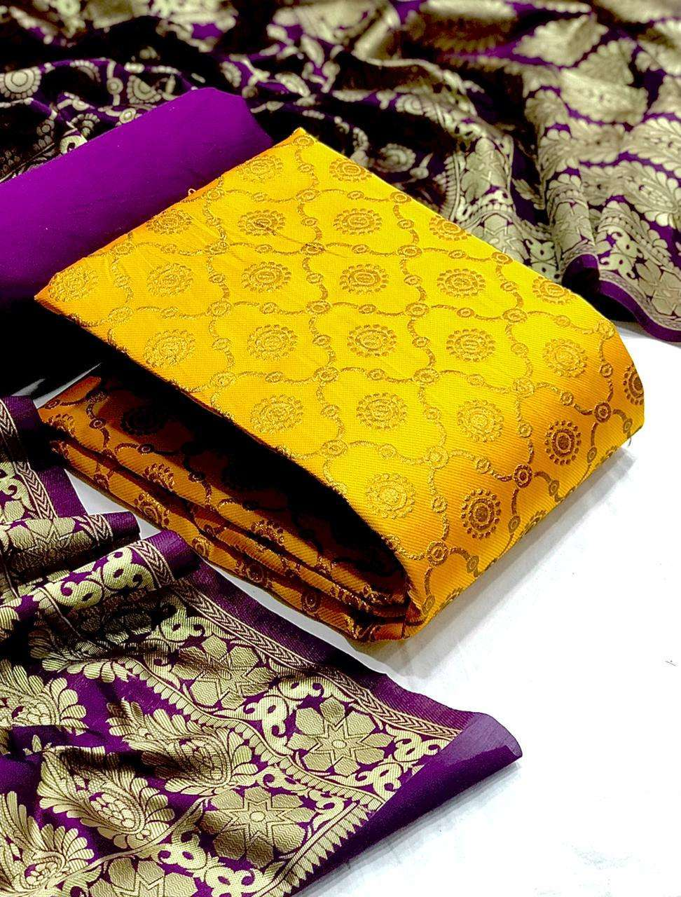 Banarasi Silk Mataka DRESS MATERIAL COLLECTION  02