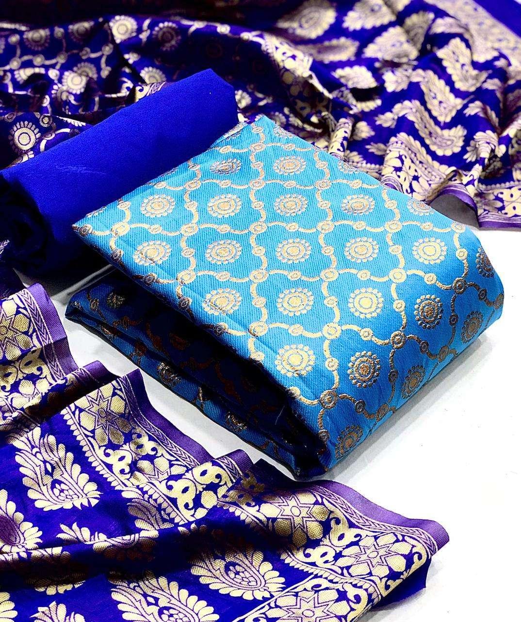 Banarasi Silk Mataka DRESS MATERIAL COLLECTION  03