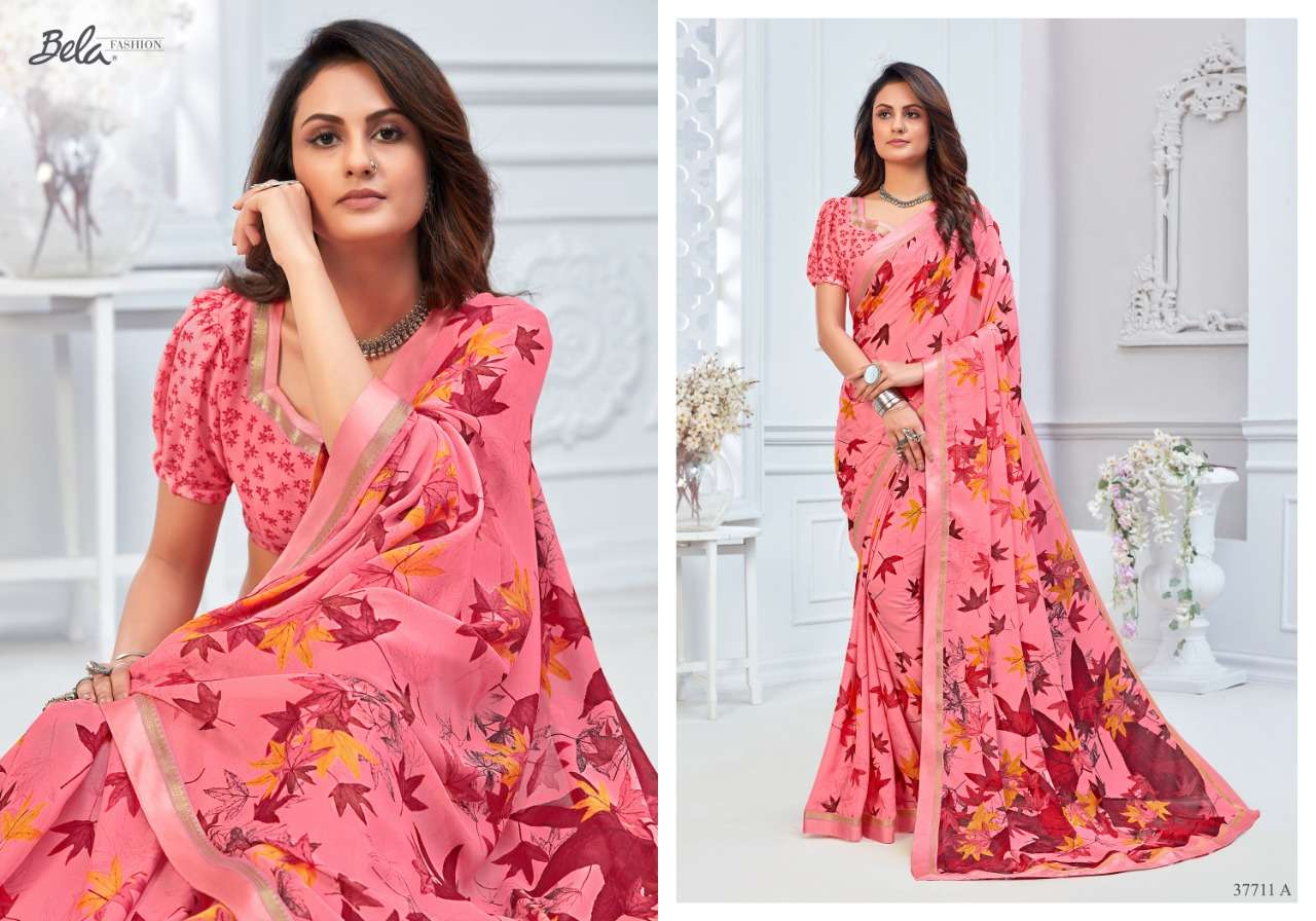 BELA ANGELICA 3 georgette with printed saree collection 01