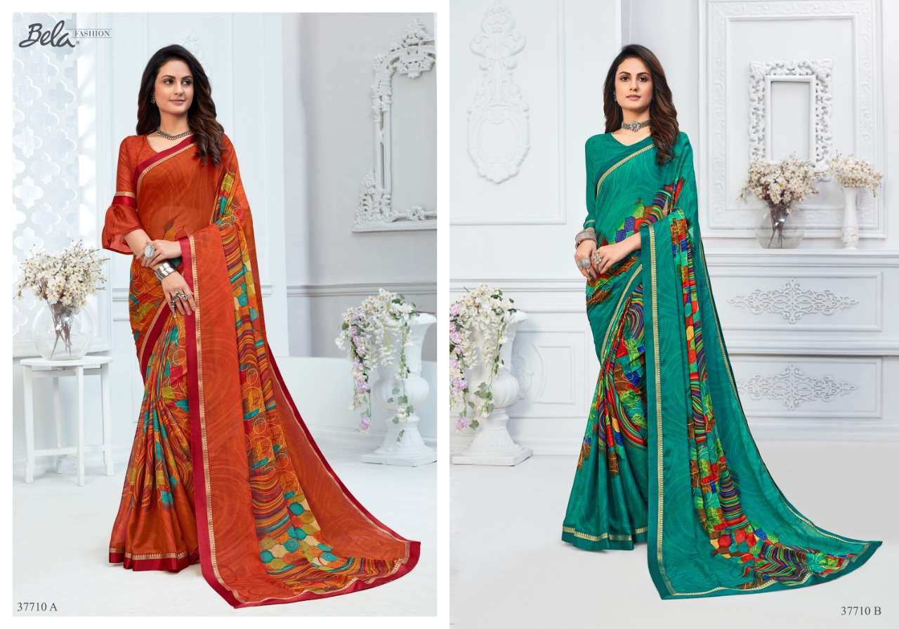 BELA ANGELICA 3 georgette with printed saree collection 02