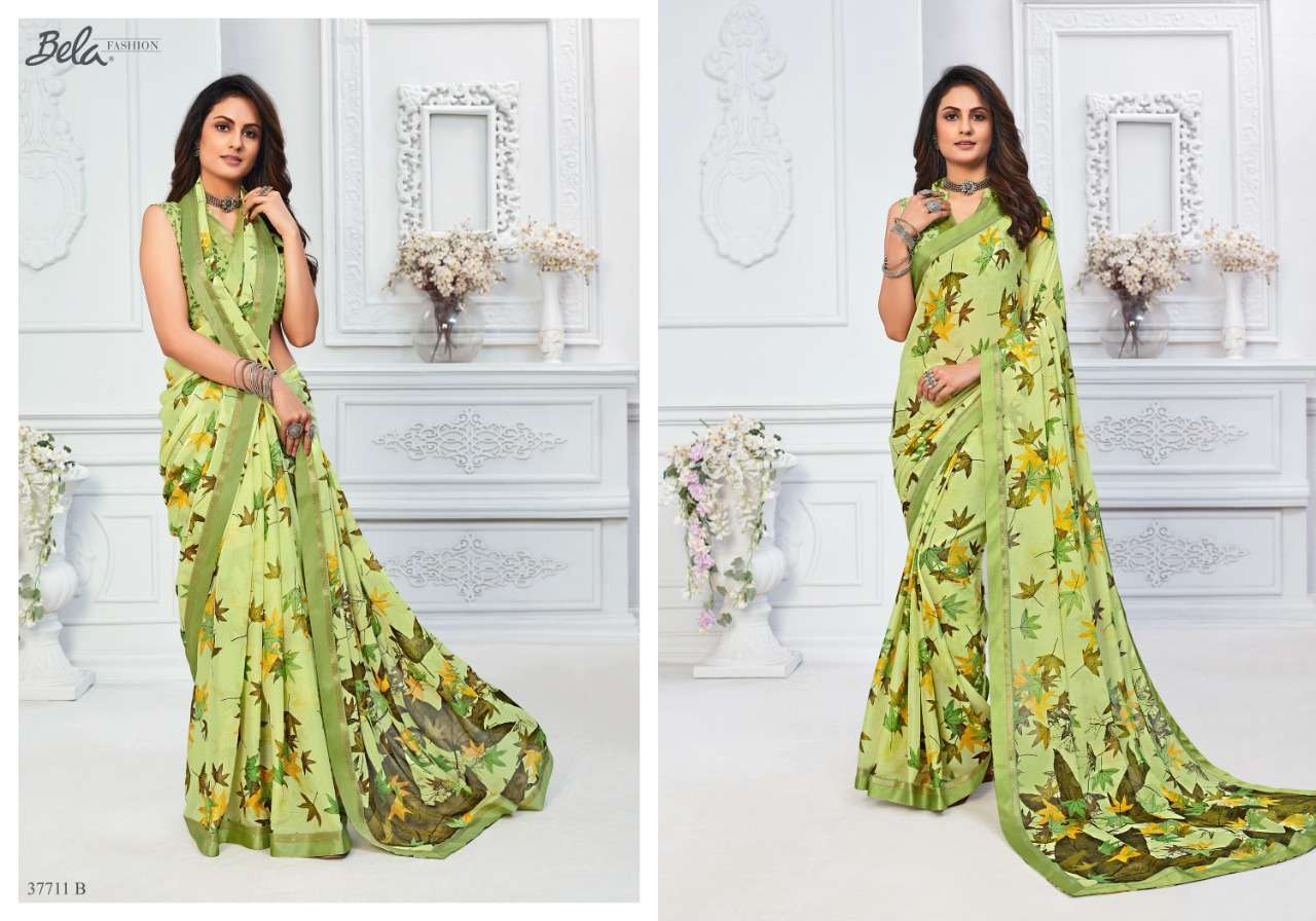 BELA ANGELICA 3 georgette with printed saree collection 03