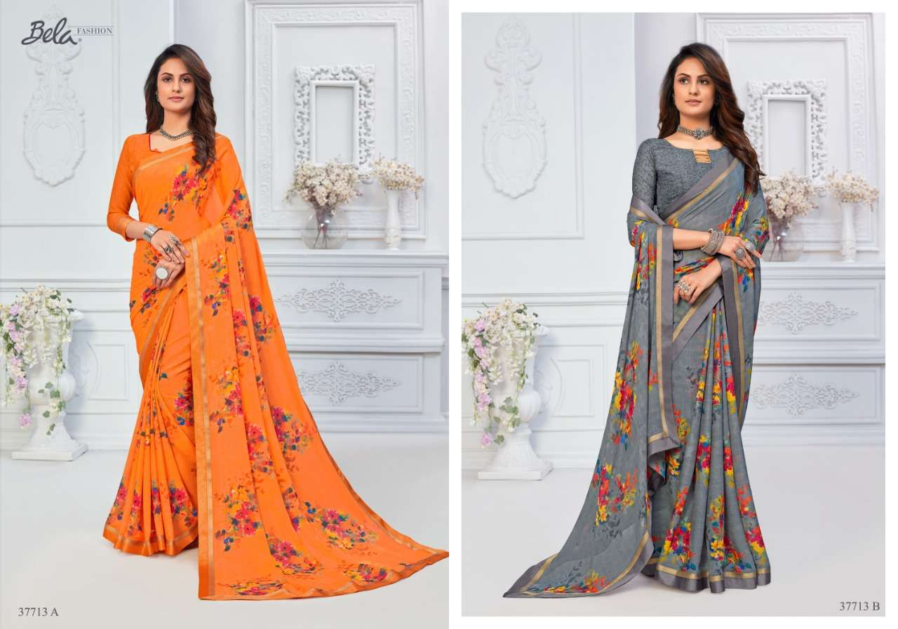 BELA ANGELICA 3 georgette with printed saree collection 04
