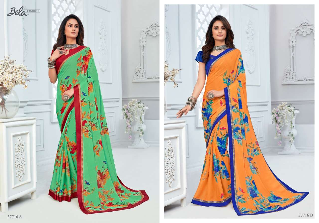 BELA ANGELICA 3 georgette with printed saree collection 05