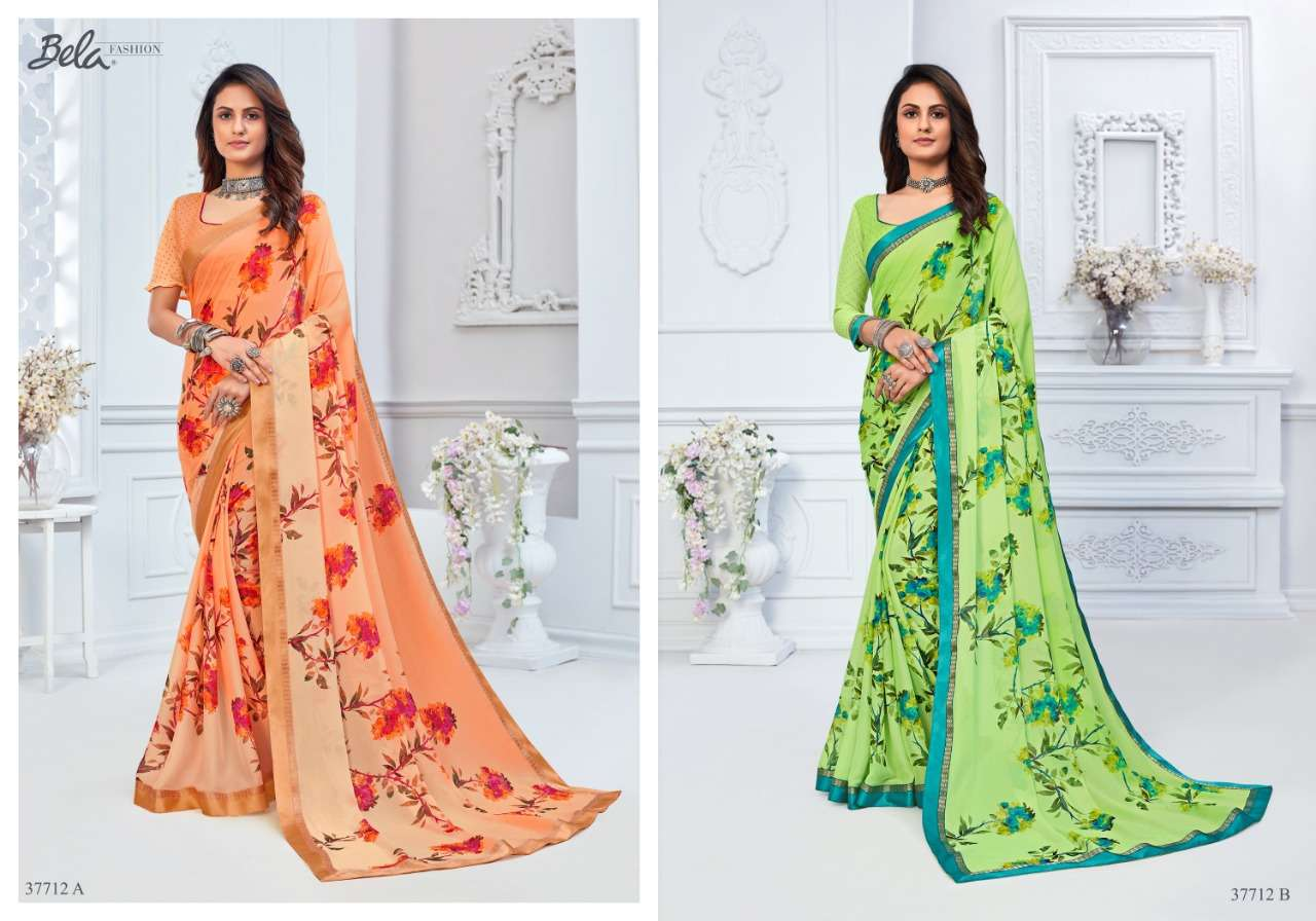 BELA ANGELICA 3 georgette with printed saree collection 06