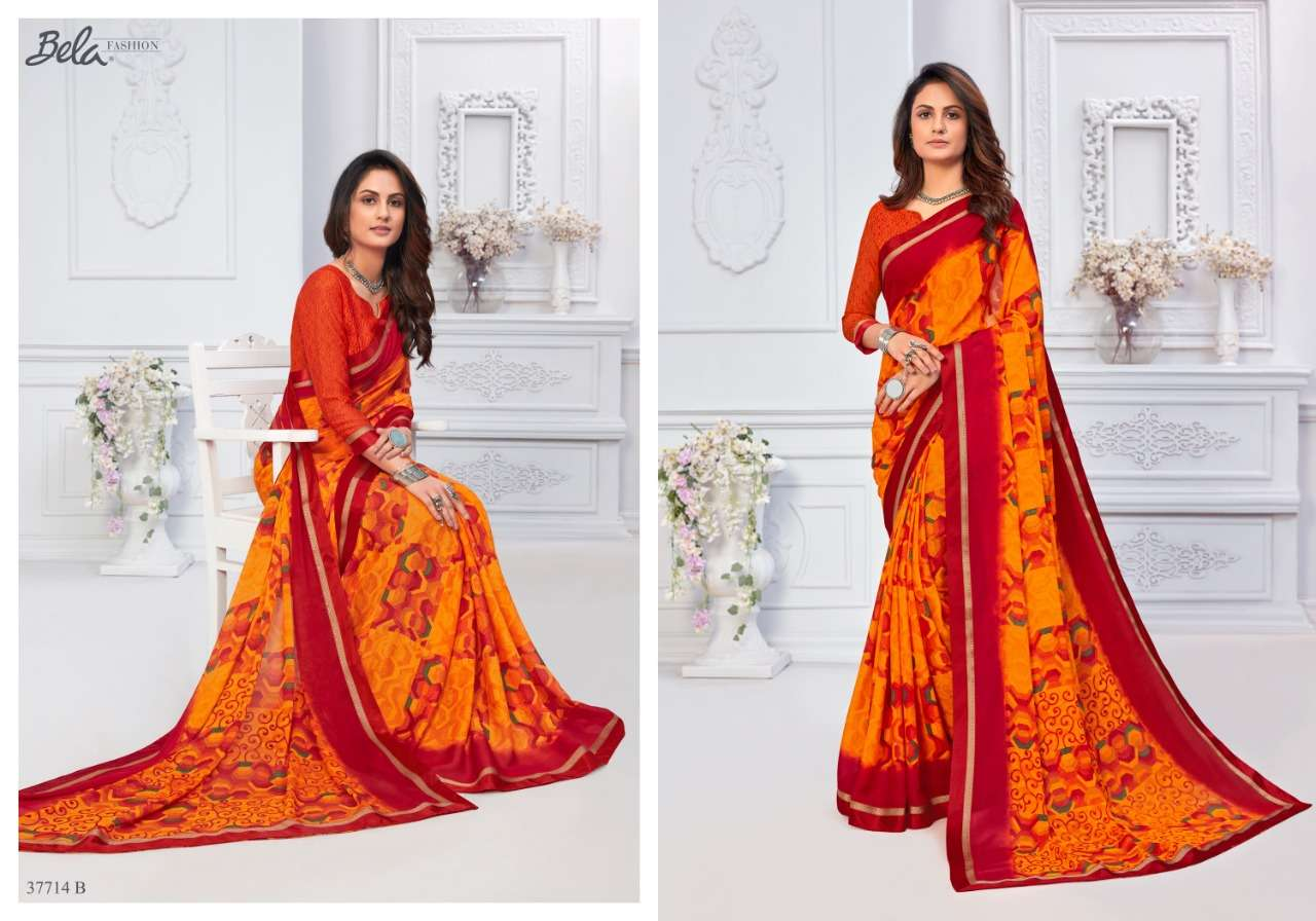 BELA ANGELICA 3 georgette with printed saree collection 07