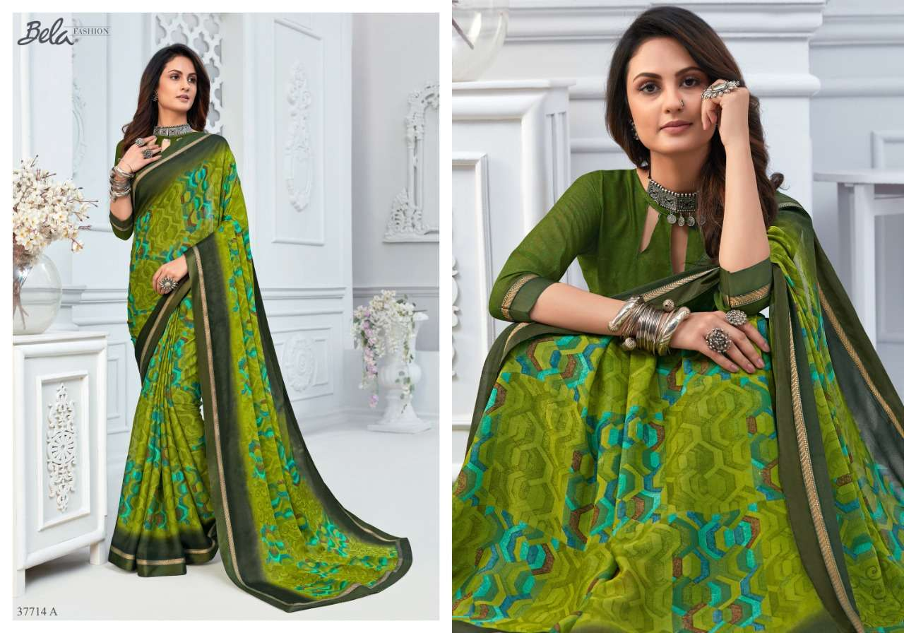 BELA ANGELICA 3 georgette with printed saree collection 08