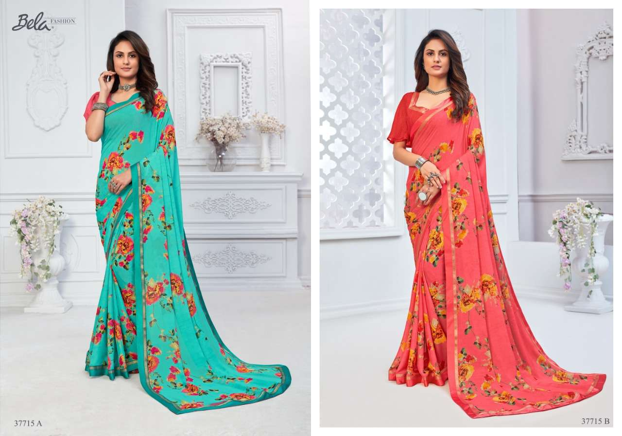 BELA ANGELICA 3 georgette with printed saree collection 09