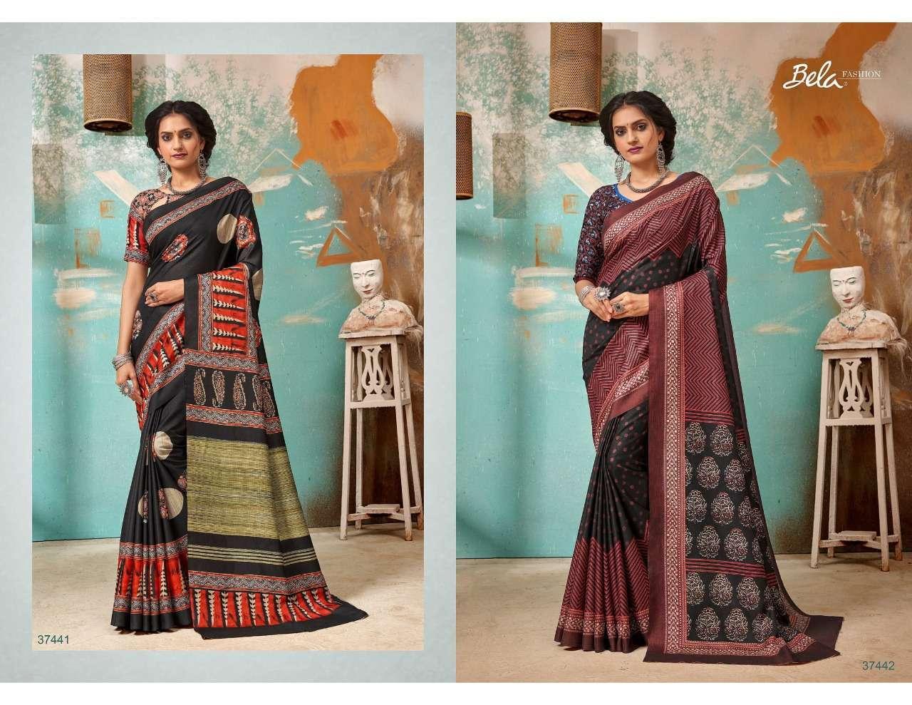 Bela Fashion Tulsi Khadi Silk With Digital Print Sarees Collection 01