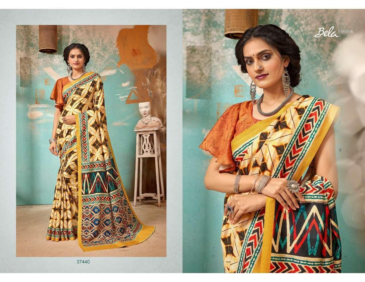 Bela Fashion Tulsi Khadi Silk With Digital Print Sarees Collection 03