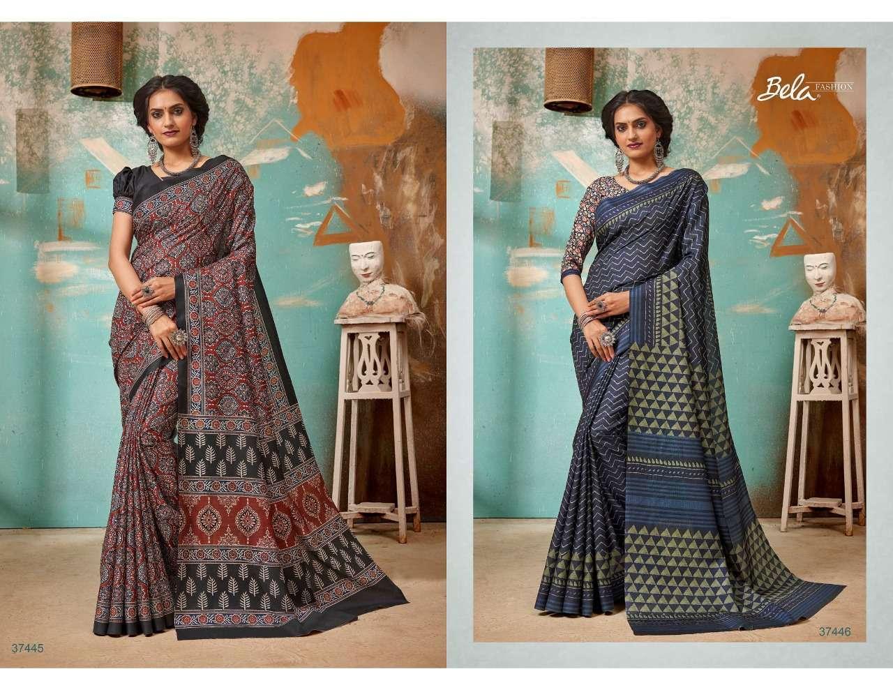 Bela Fashion Tulsi Khadi Silk With Digital Print Sarees Collection 04