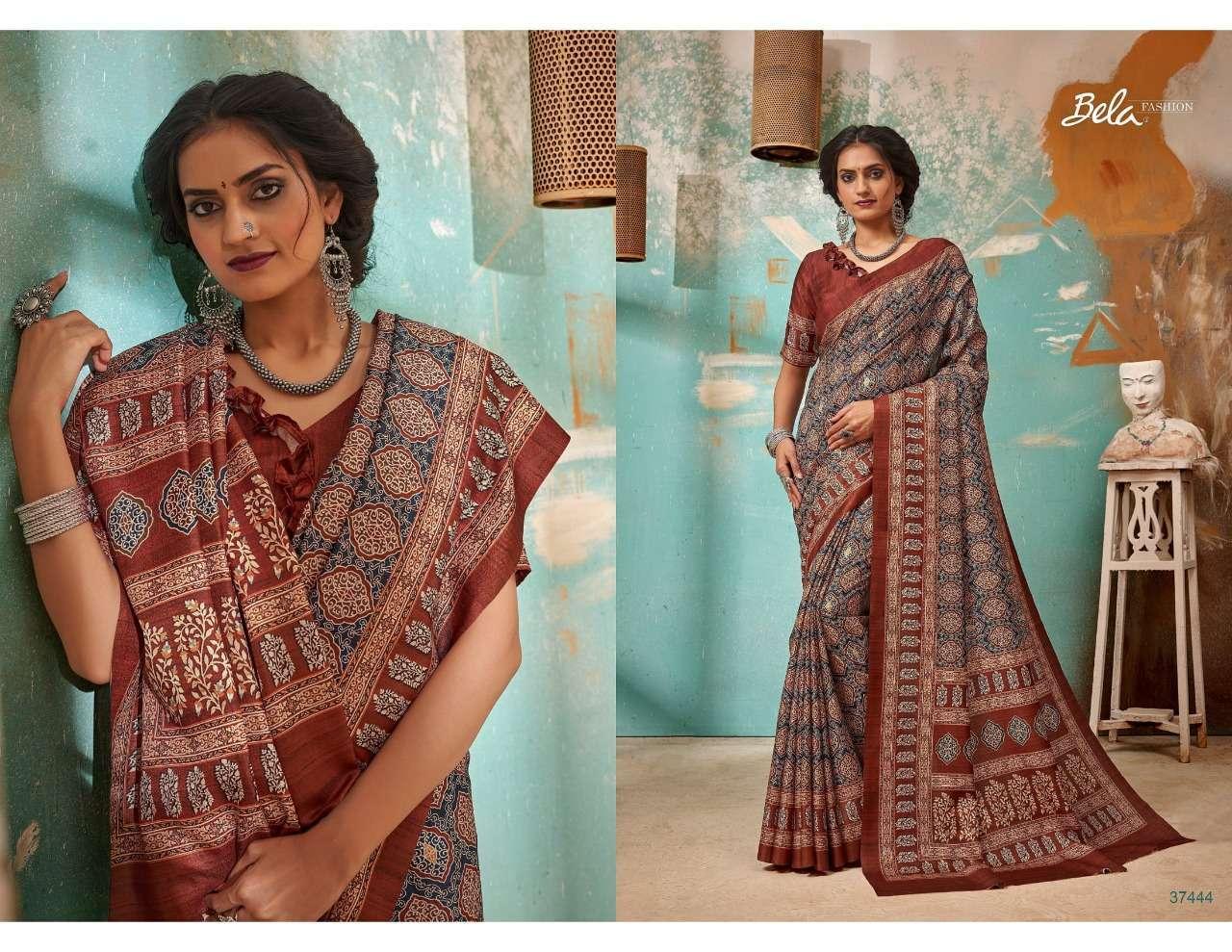 Bela Fashion Tulsi Khadi Silk With Digital Print Sarees Collection 05