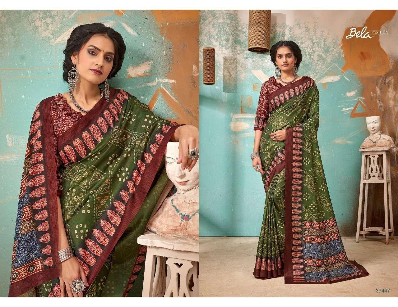 Bela Fashion Tulsi Khadi Silk With Digital Print Sarees Collection 06
