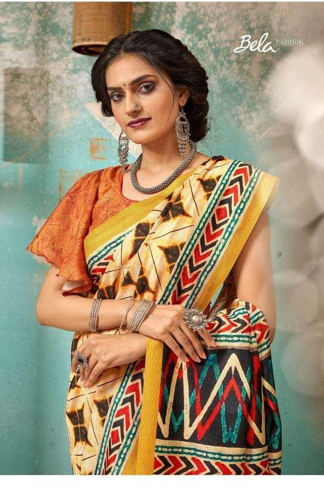 Bela fashion Tulsi Khadi Silk With Digital Print Sarees Collection