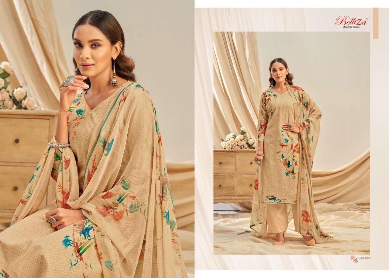 Belliza Designer Studio Rukhsar Cotton Linen With Digital Print Dress Material Collection 03