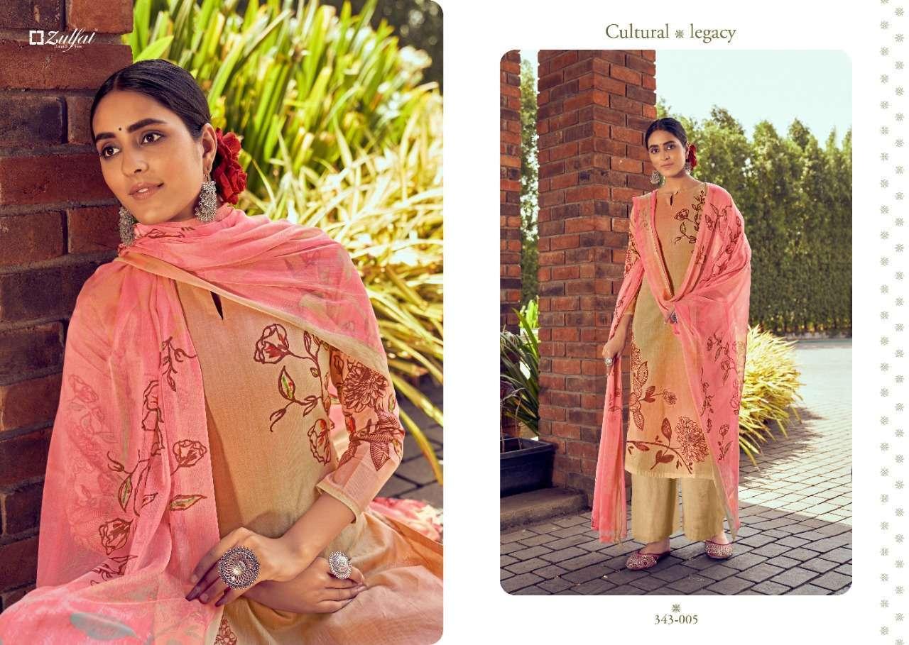 Belliza Designer Studio Zulfat Summer Bonanza Pure Cotton Digital Print Dress Material Collection 10