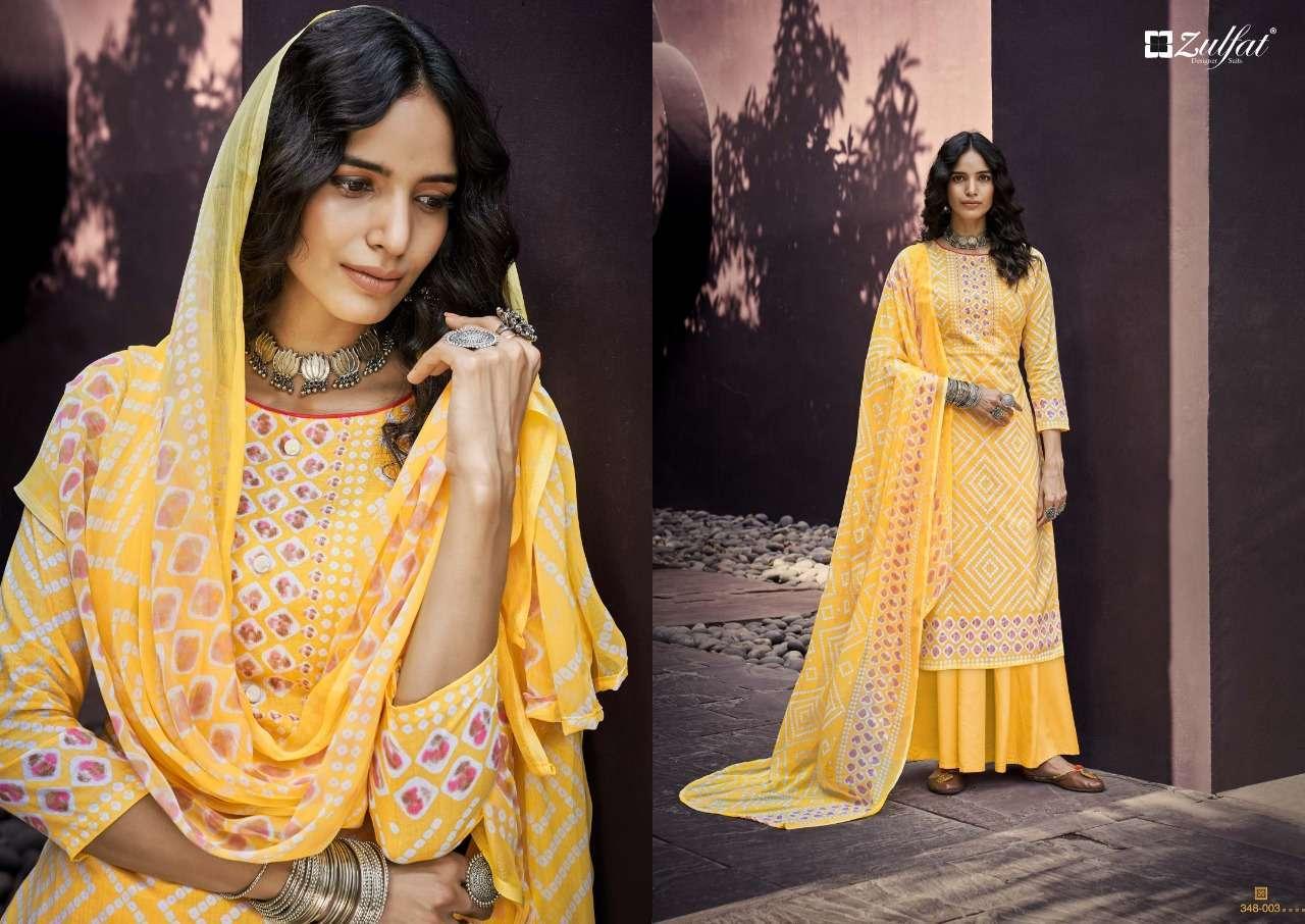 Belliza Designer Studio Zulfat Summer Queen Cotton Digital Print Dress Material Collection 01