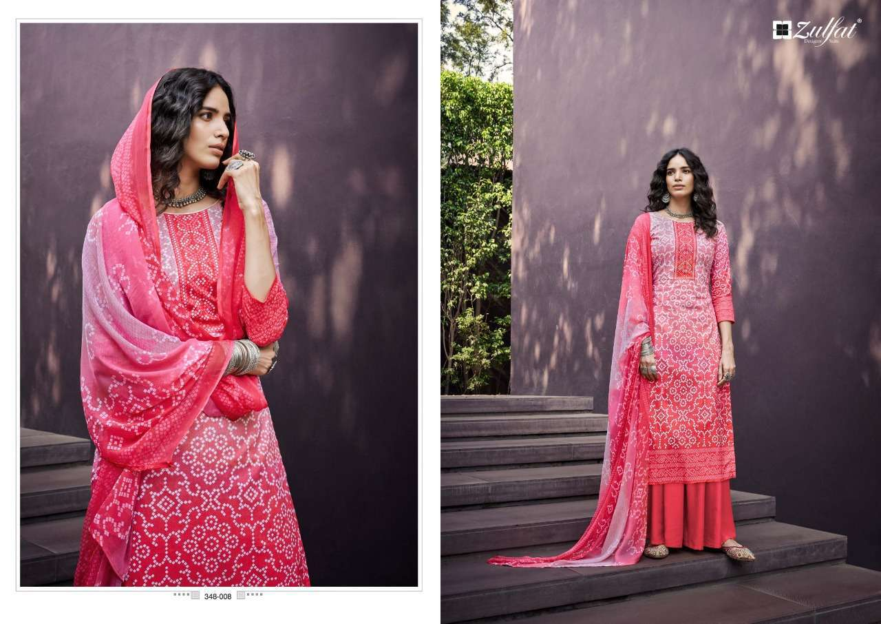 Belliza Designer Studio Zulfat Summer Queen Cotton Digital Print Dress Material Collection 02