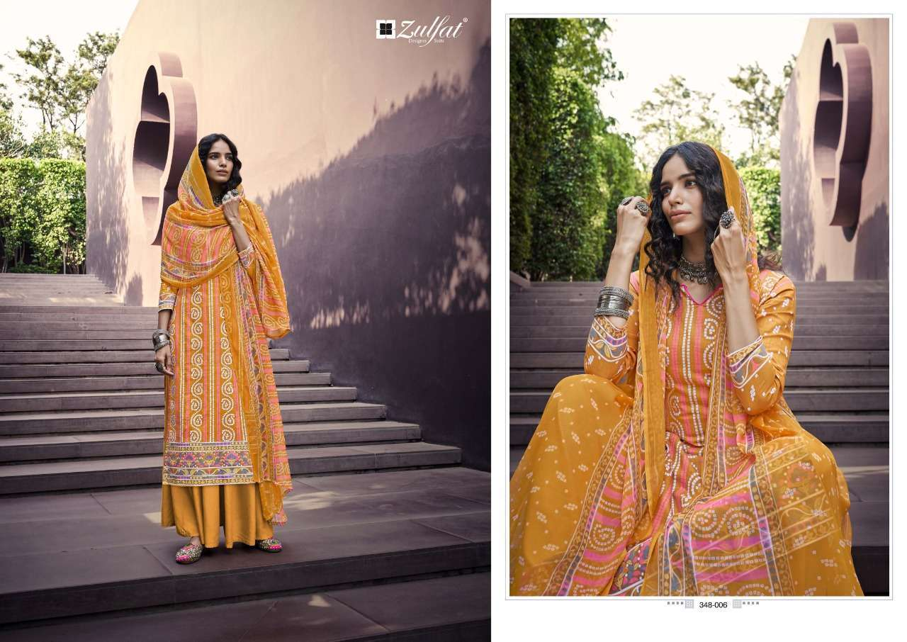 Belliza Designer Studio Zulfat Summer Queen Cotton Digital Print Dress Material Collection 03