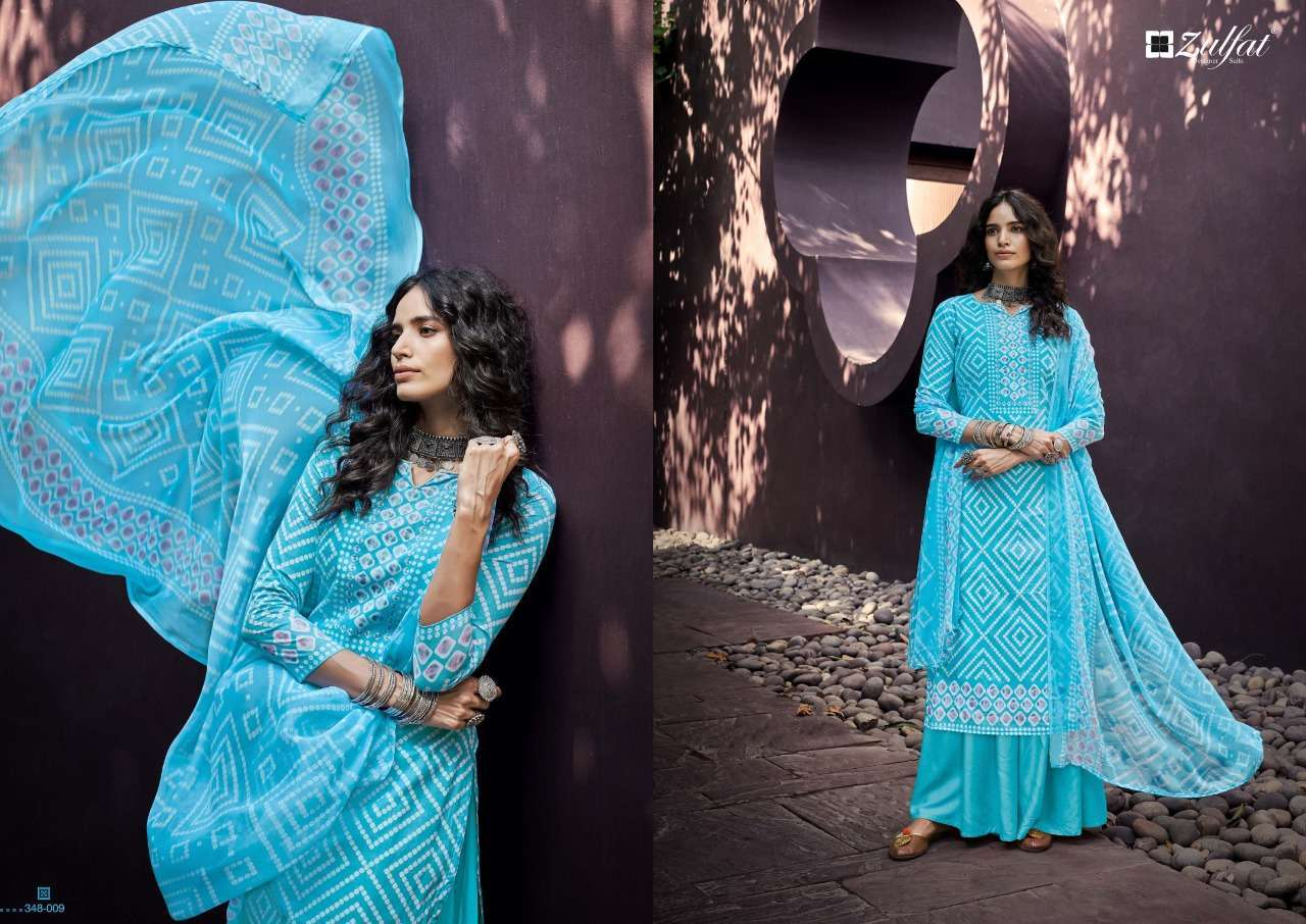 Belliza Designer Studio Zulfat Summer Queen Cotton Digital Print Dress Material Collection 05