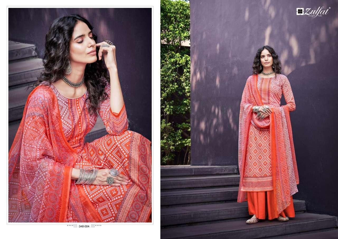 Belliza Designer Studio Zulfat Summer Queen Cotton Digital Print Dress Material Collection 06