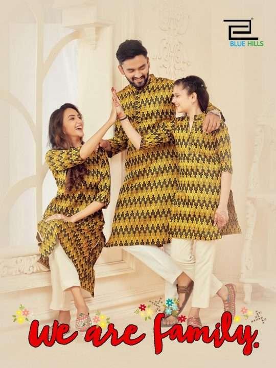 Blue Hills We are Family Original Silk Ikkat Fancy Designer Kurtis Collection
