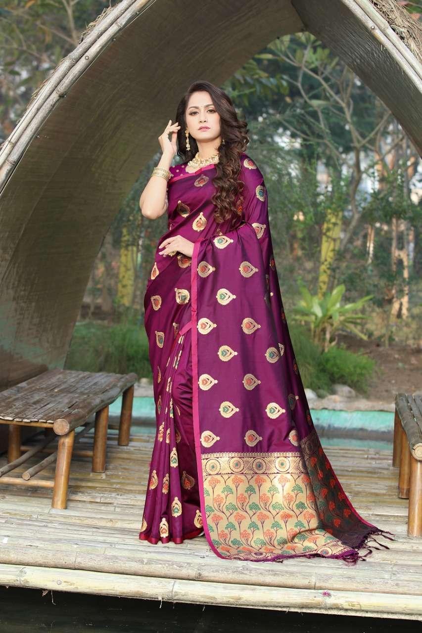cotton silk with gold jari weaving saree collection  01
