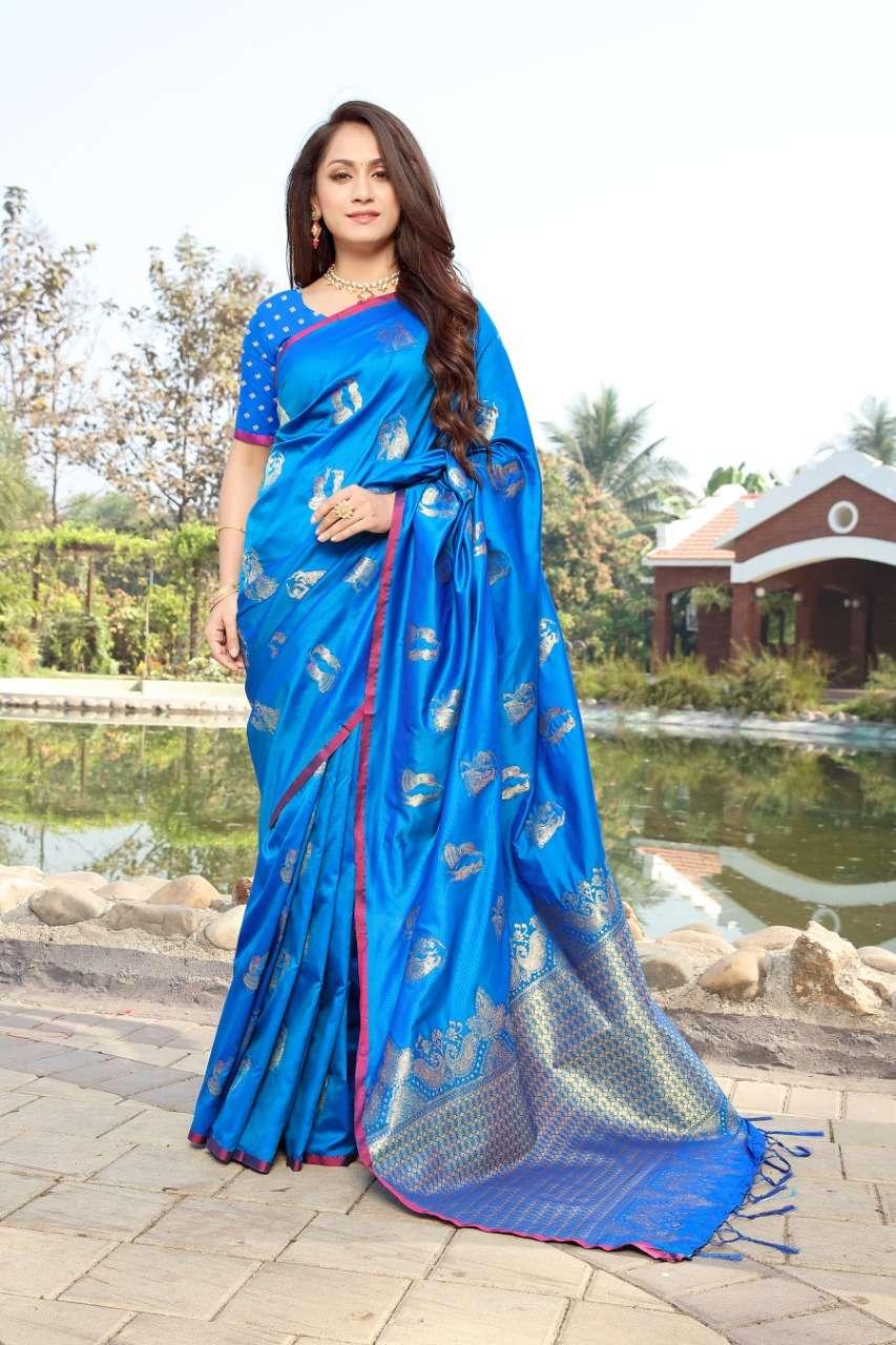 cotton silk with gold jari weaving saree collection  03