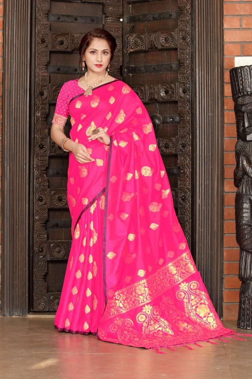 cotton silk with gold jari weaving saree collection  05