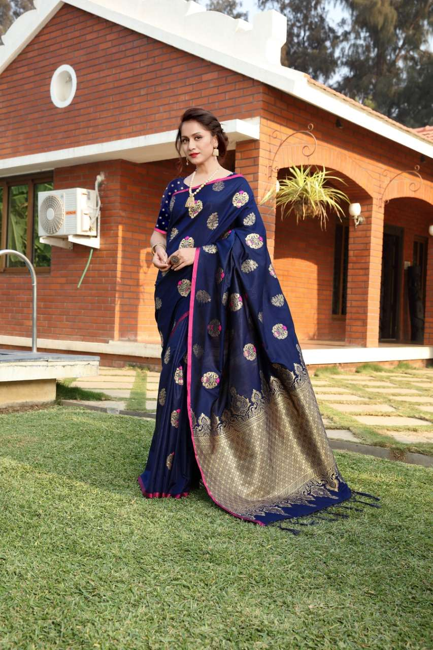 cotton silk with gold jari weaving saree collection  06