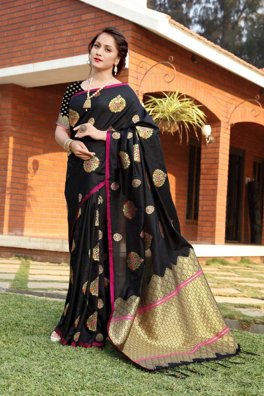 cotton silk with gold jari weaving saree collection  07