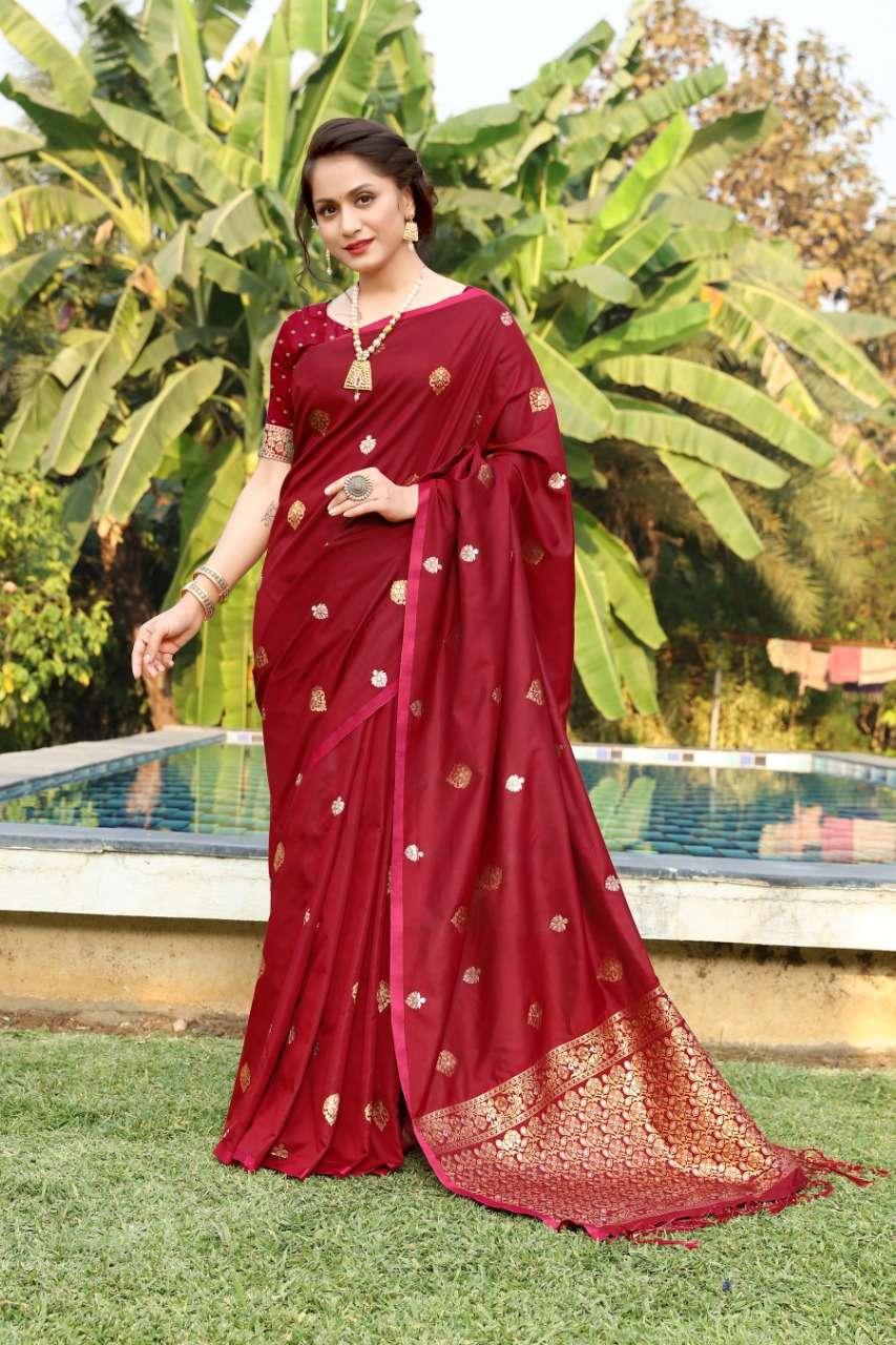 cotton silk with gold jari weaving saree collection  08
