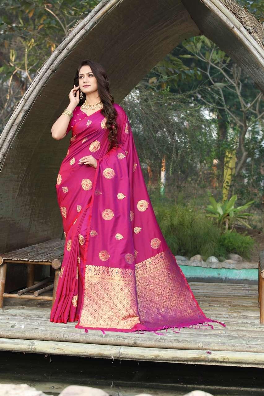 cotton silk with gold jari weaving saree collection