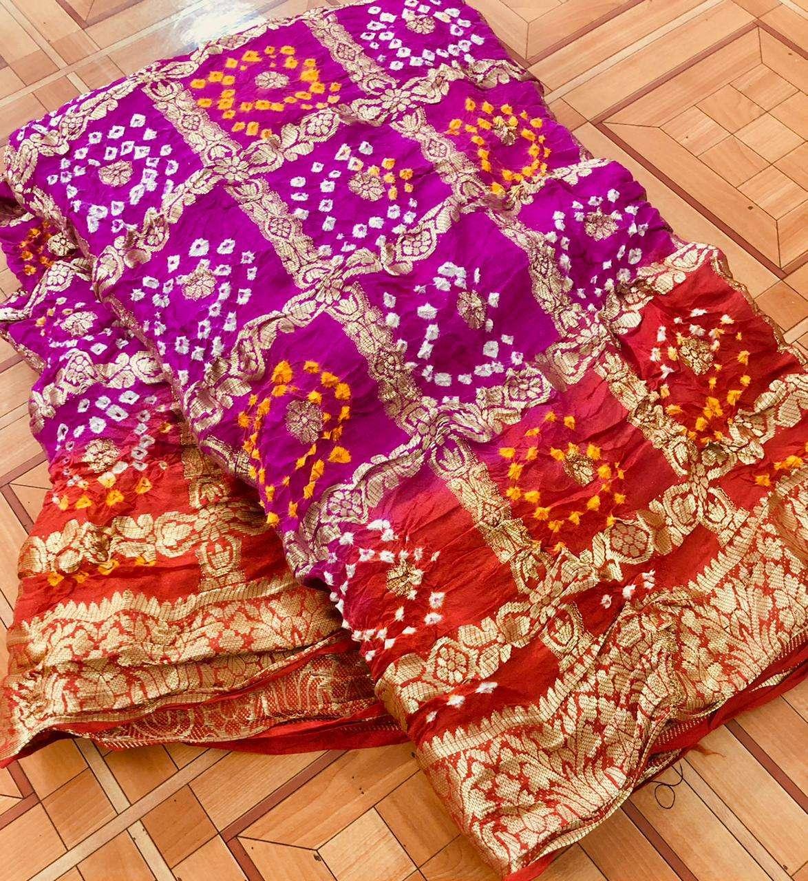 cotton traditional bandej design saree collection 02