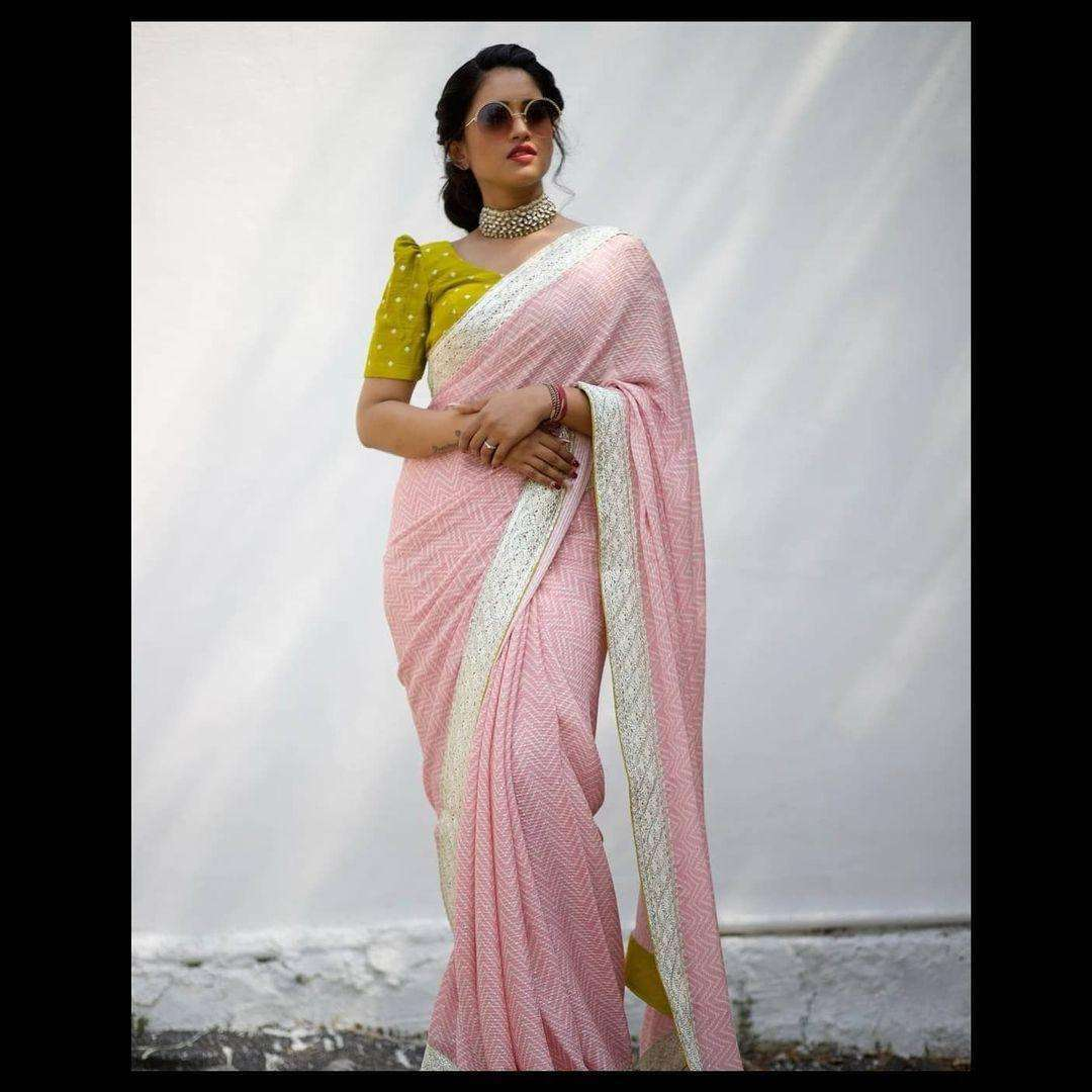 Daisy Georgette Sequence Work Party Wear Sarees Collection 01