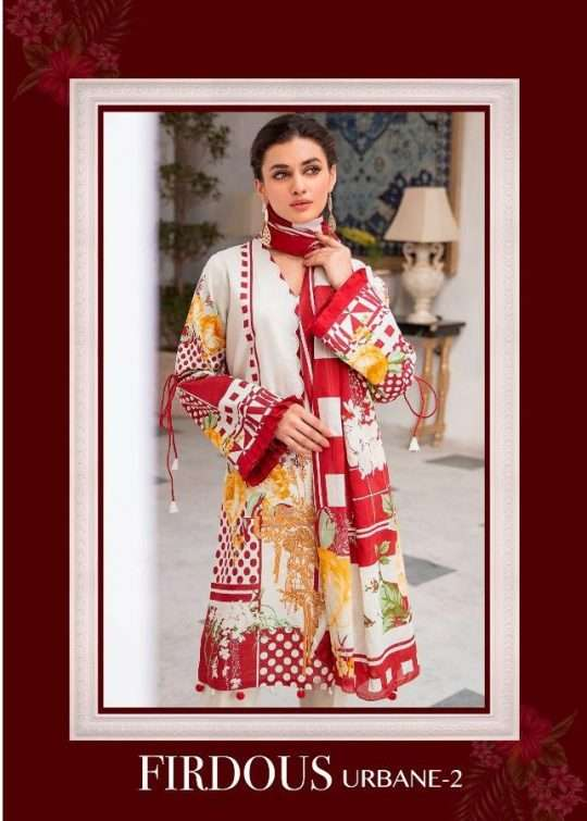 Deepsy Suits Firdous Urbane Vol 2 Pure cotton Print With embroidery Work Pakistani Suits collection
