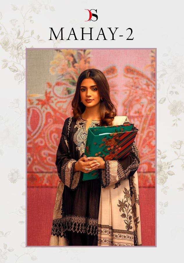 Deepsy Suits Mahay Vol 2 Pure Cotton With embroidery Work Pakistani Suits Collection