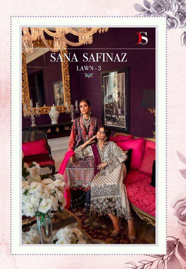 Deepsy Suits Sana Safinaz Lawn 21 3  Pure Cotton Print With embroidery Work Pakistani Suits Collection