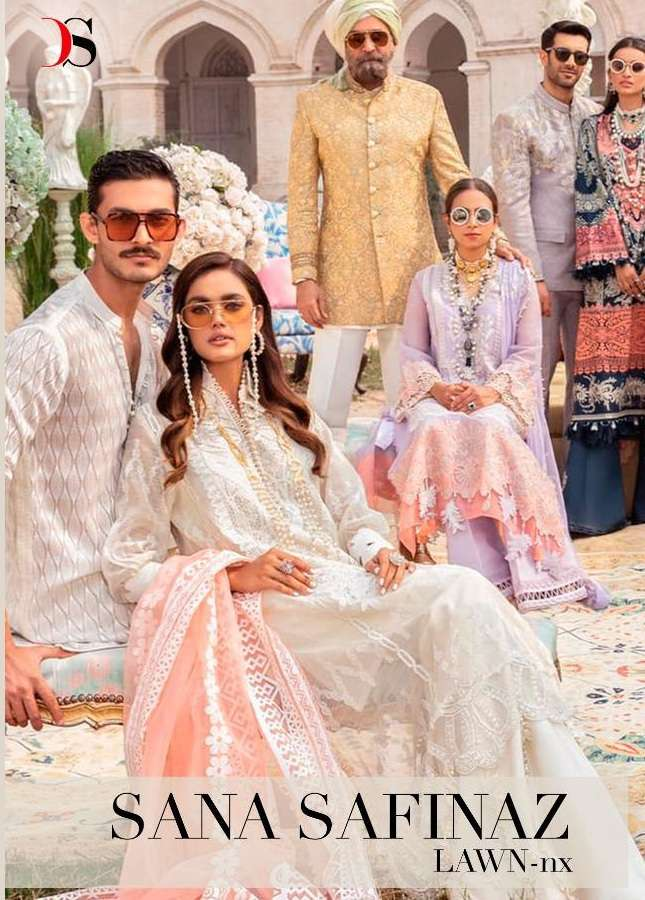 Deepsy Suits Sana Safinaz Lawn 21 NX Pure Cotton With embroidery work pakistani Suits Collection