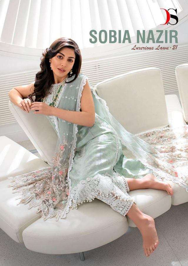 Deepsy suits Sobia Nazir Lawn Vol 21 Pure cotton Print With Embroidery Work Pakistani Suits collection