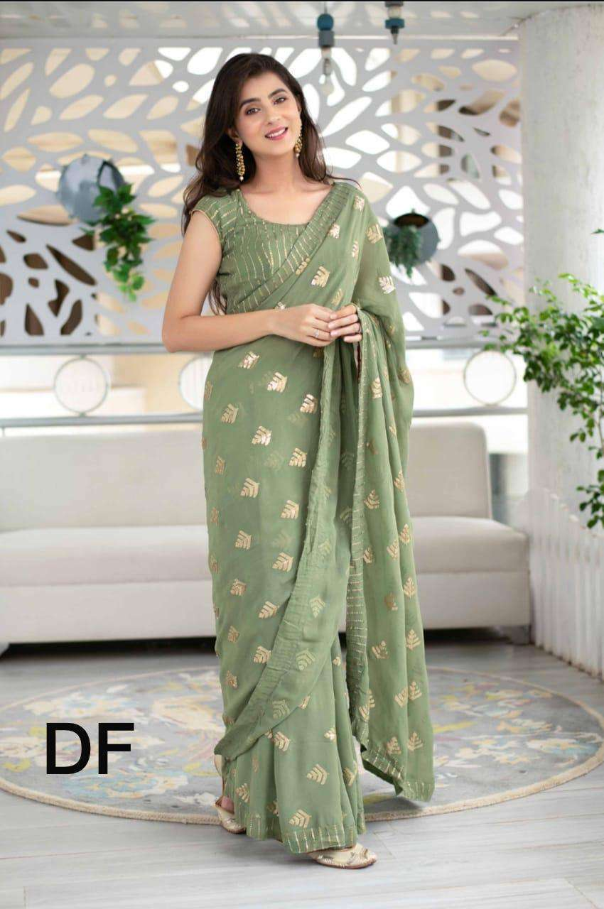 Df Sonpari Georgette With Sequence Work Sarees Collection 01