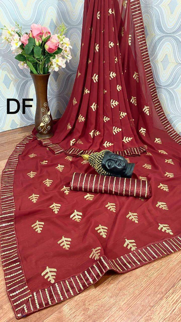 Df Sonpari Georgette With Sequence Work Sarees Collection 02