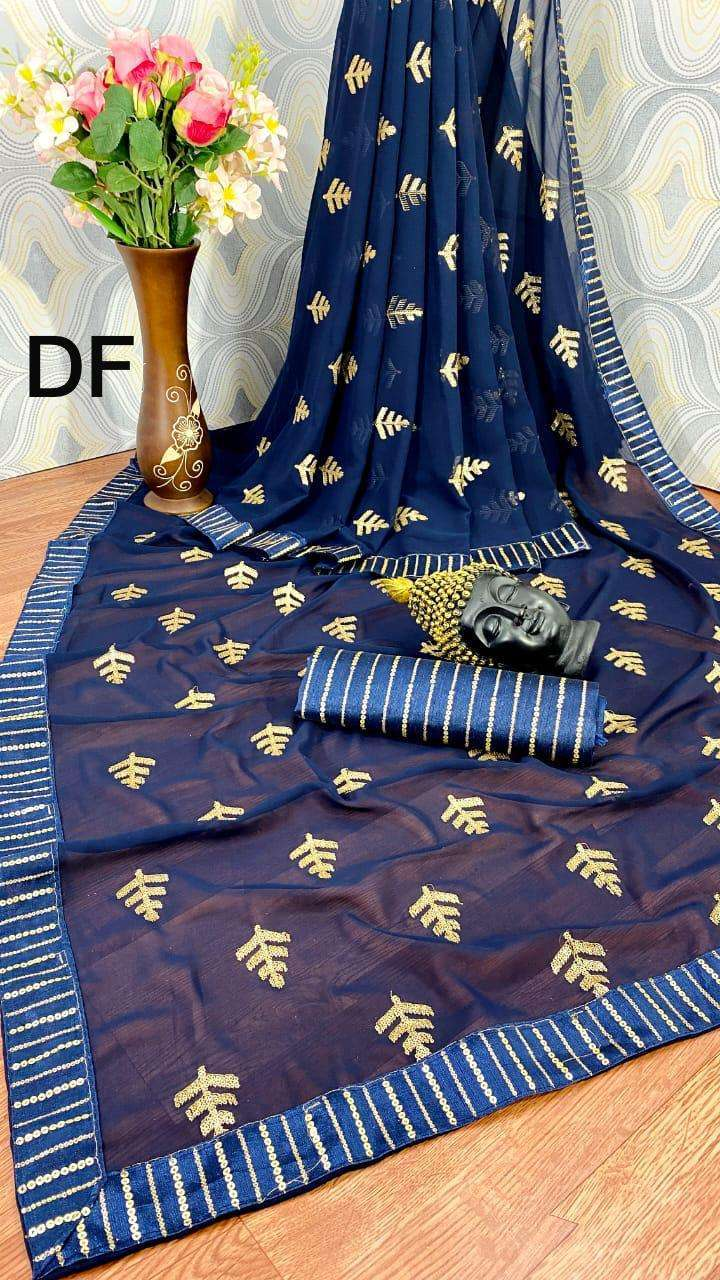 Df Sonpari Georgette With Sequence Work Sarees Collection 03