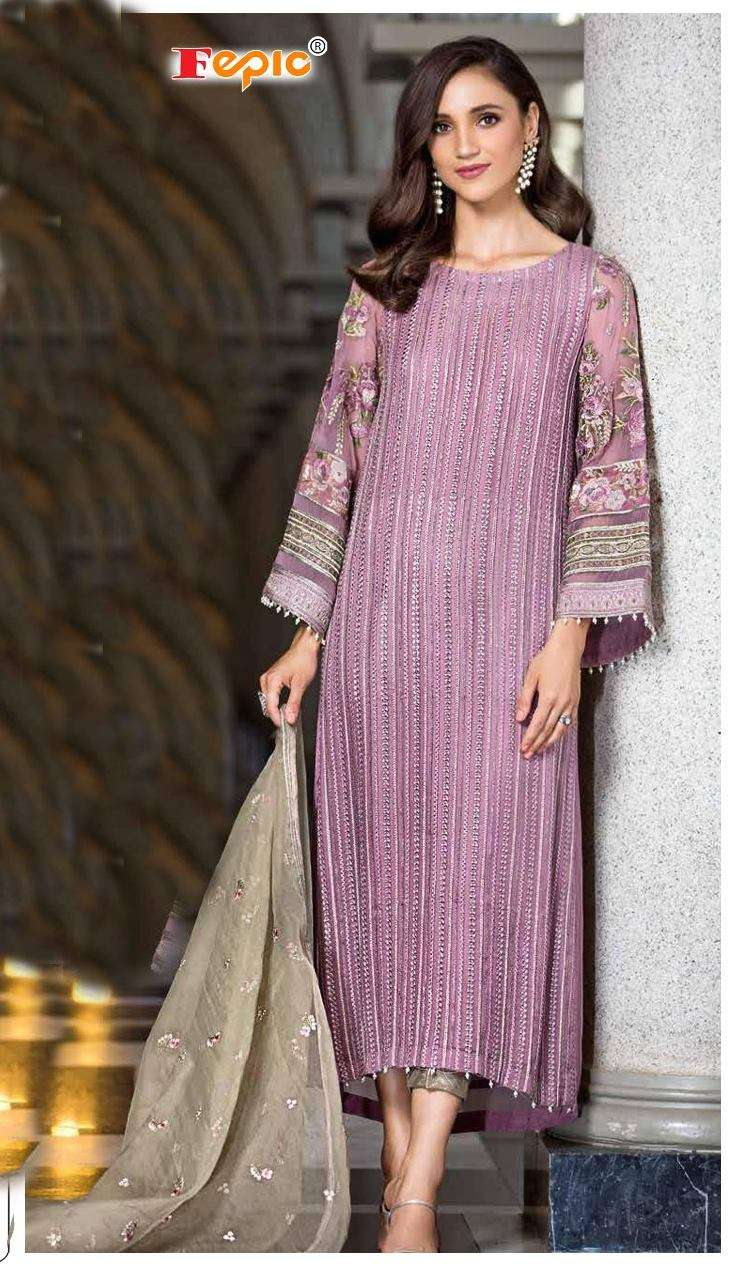 FEPIC ROSEMEEN D 5113 NET WITH EMBROIDERY WORK PAKISTANI SUITS COLLECTION